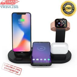 10W Qi Wireless Charger Dock Station 4 in 1 For Iphone charg