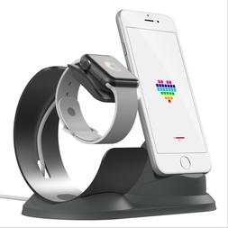 2 in 1 Aluminum Charging Dock Stand Docking Station For Appl