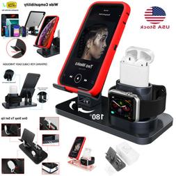 AICase 3 in 1 Bracket Charging Stand Dock Station For Apple