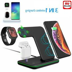 3 in 1 Charging Dock Charger Stand For Apple Watch Serie Air