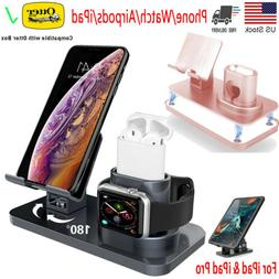 3 in 1 Charging Station Stand Charger Dock For iPhone iPad A