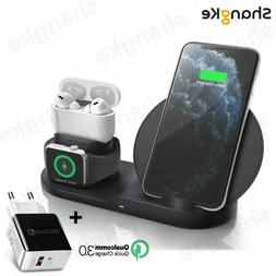 3 in 1 Wireless Charger Dock Station Fast Charging For Apple