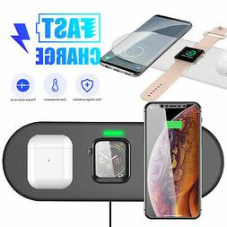 3 In1 QI Wireless Charger Fast Charging Dock Station For App