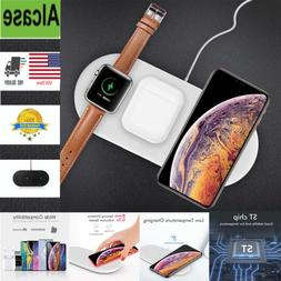 3 in1 Wireless Charger Qi Charging Station Dock for Apple Wa