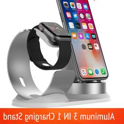 3in1 Aluminum Charger Stand Charging Dock Station For Apple