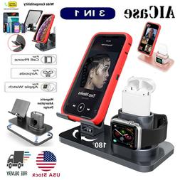 3in1 Charging Dock Station Holder Stand F Apple Watch Series