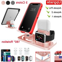 3in1 Charging Dock Station Holder Stand for iPhone Apple Wat