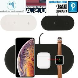 3in1 QI Wireless Charger Charging Dock Station For Apple Air