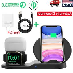 3in1 QI Wireless Charger Charging Station Dock For Apple Wat