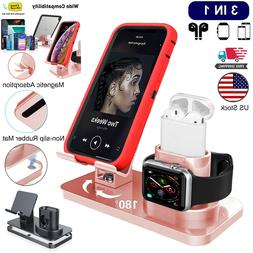 3in1 Universal Charging Dock Station Holder Stand For iPhone