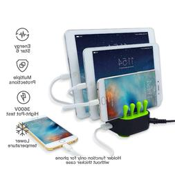 4-Port USB Fast Charger Station Charging Dock Stand Organize
