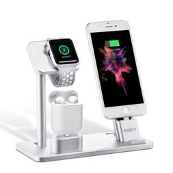 4in1/3in1 Charging Dock Station for Apple Watch iPhone AirPo
