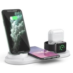 4in1 Qi Fast Wireless Charger Charging Dock Stand Station fo