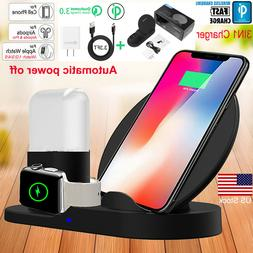 Apple Watch iPhone Samsung 3in1 QI Wireless Charger Charging