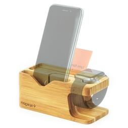 apple watch iphone bamboo charging