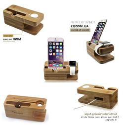 Apple Watch Stand, Hapurs iWatch Bamboo Wood Charging Dock C