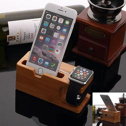 Bamboo Charging Dock Station Charger Mount Holder Stand For
