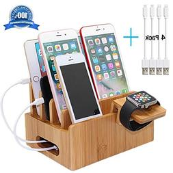 Pezin & Hulin Bamboo Charging Stations for Multiple Devices,
