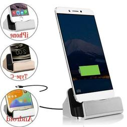Charging Station USB Cable Data Dock Stands iPhone Samsung X