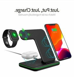 Techno S Fast 3 in 1 Wireless Dock Charging Station for Appl