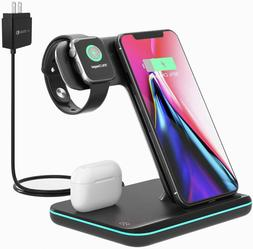 Techno S Fast 3 in 1 Wireless  Dock Charging Station for App