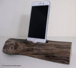 Free shipping iPhone or Cellphone Driftwood Stand Wooden iPh