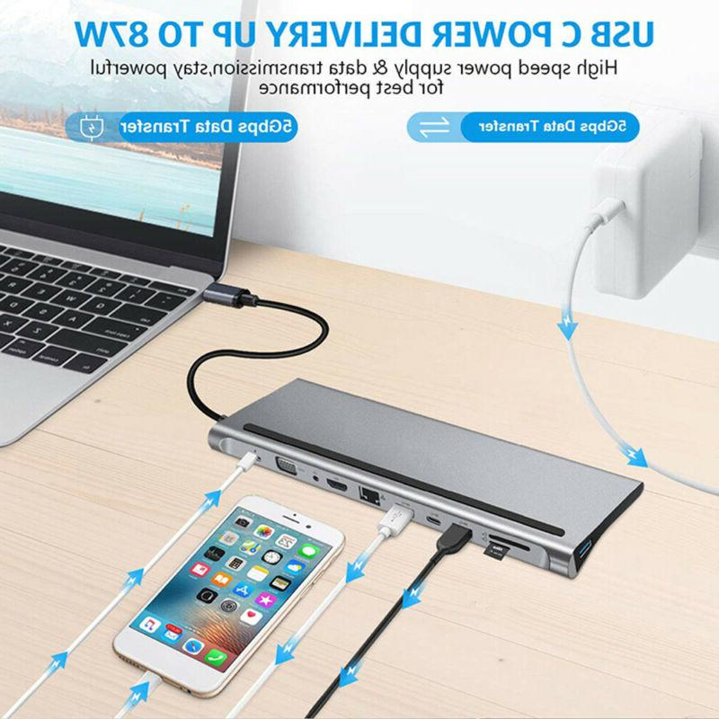11-in-1 USB Docking Station Type-c HDMI FOR