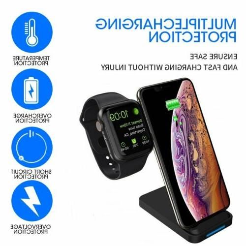 2 in 1 Qi Wireless Station iWatch iPhone