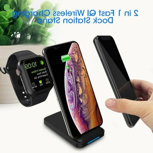 2 in 1 fast qi wireless charge