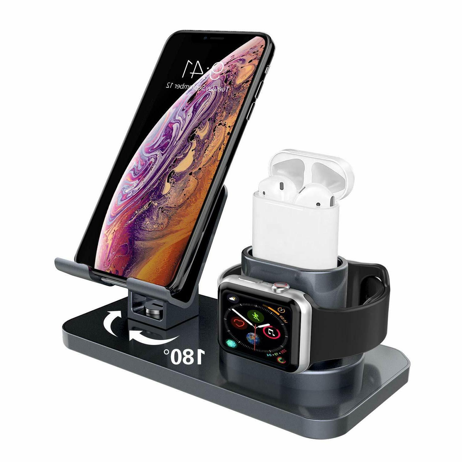 Dock Station Fr Apple AirPods/iPhone 11/iPad