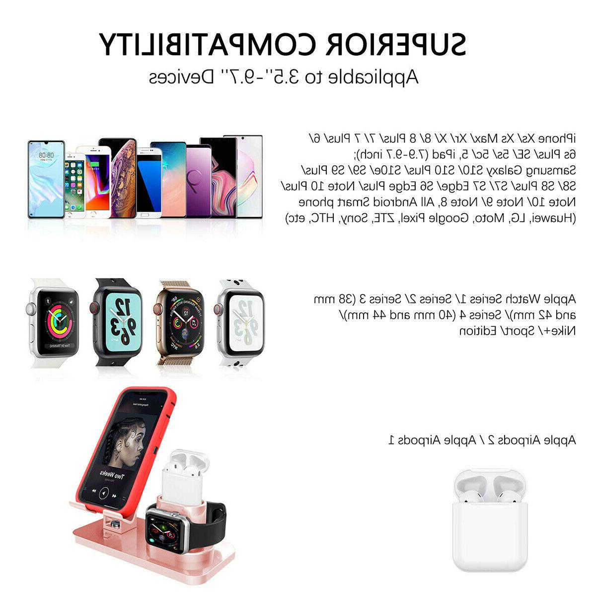 3in1 Charging Station Holder Stand For iPhone AirPods