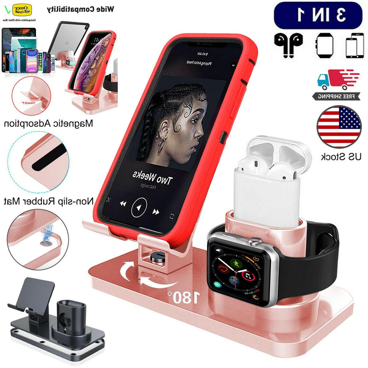 3in1 universal charging dock station holder stand