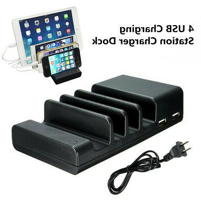 4 port usb hub charging dock station