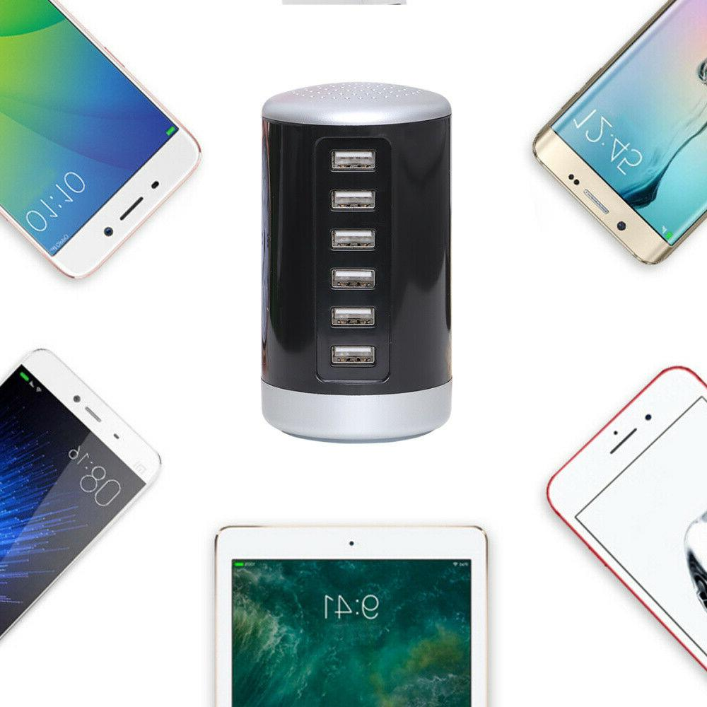 6 Multi Tower Charging Adapter Station US