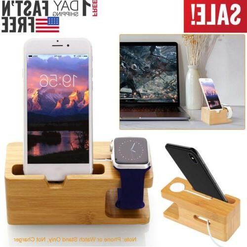 bamboo charging dock station charger