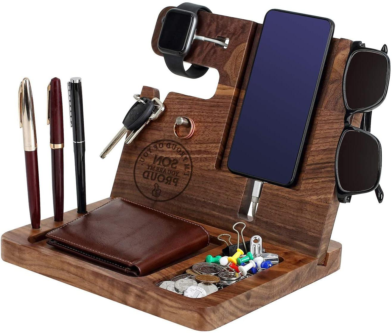 birthday gift for son wood phone docking