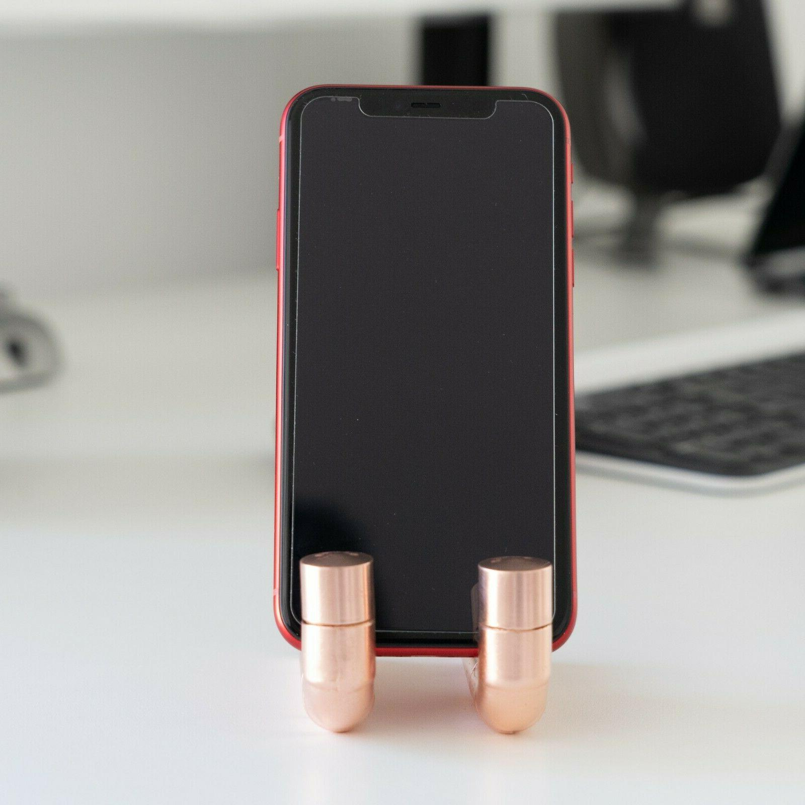 Copper Pipe Rose Cell Phone Docking Station | Desk Accessory
