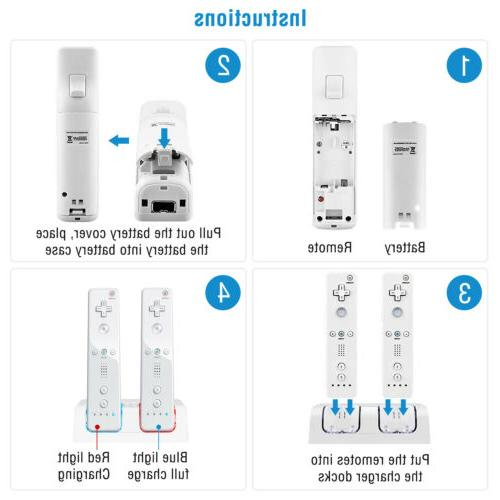 For Wii Charger Charging Rechargeable Battery