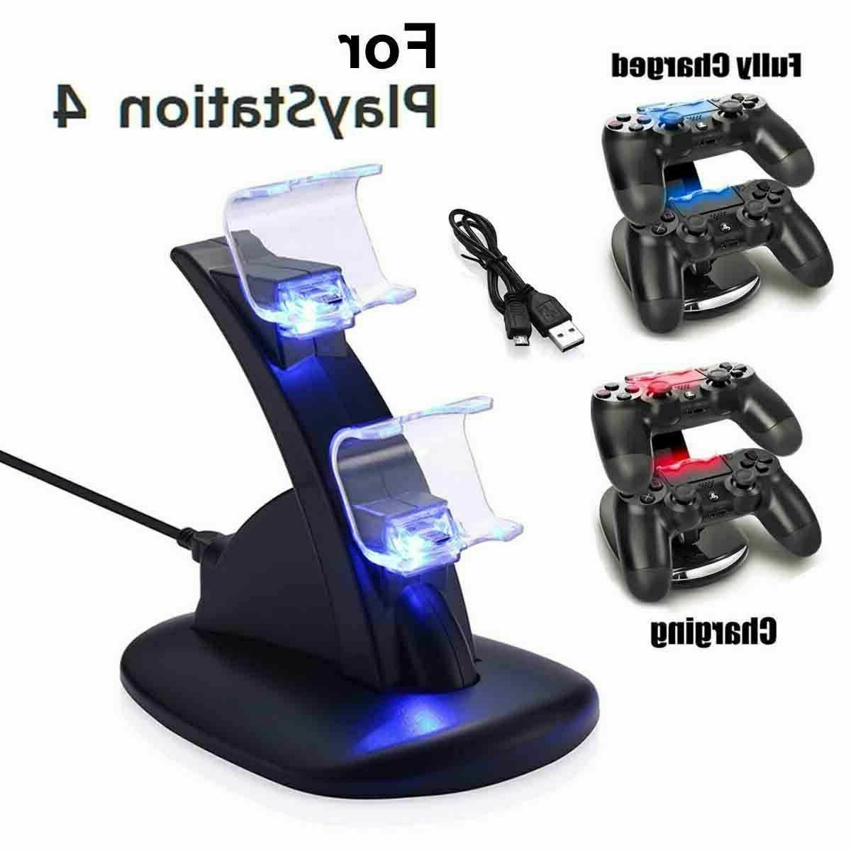For PlayStation4 Controller Dual USB Charger Dock Station