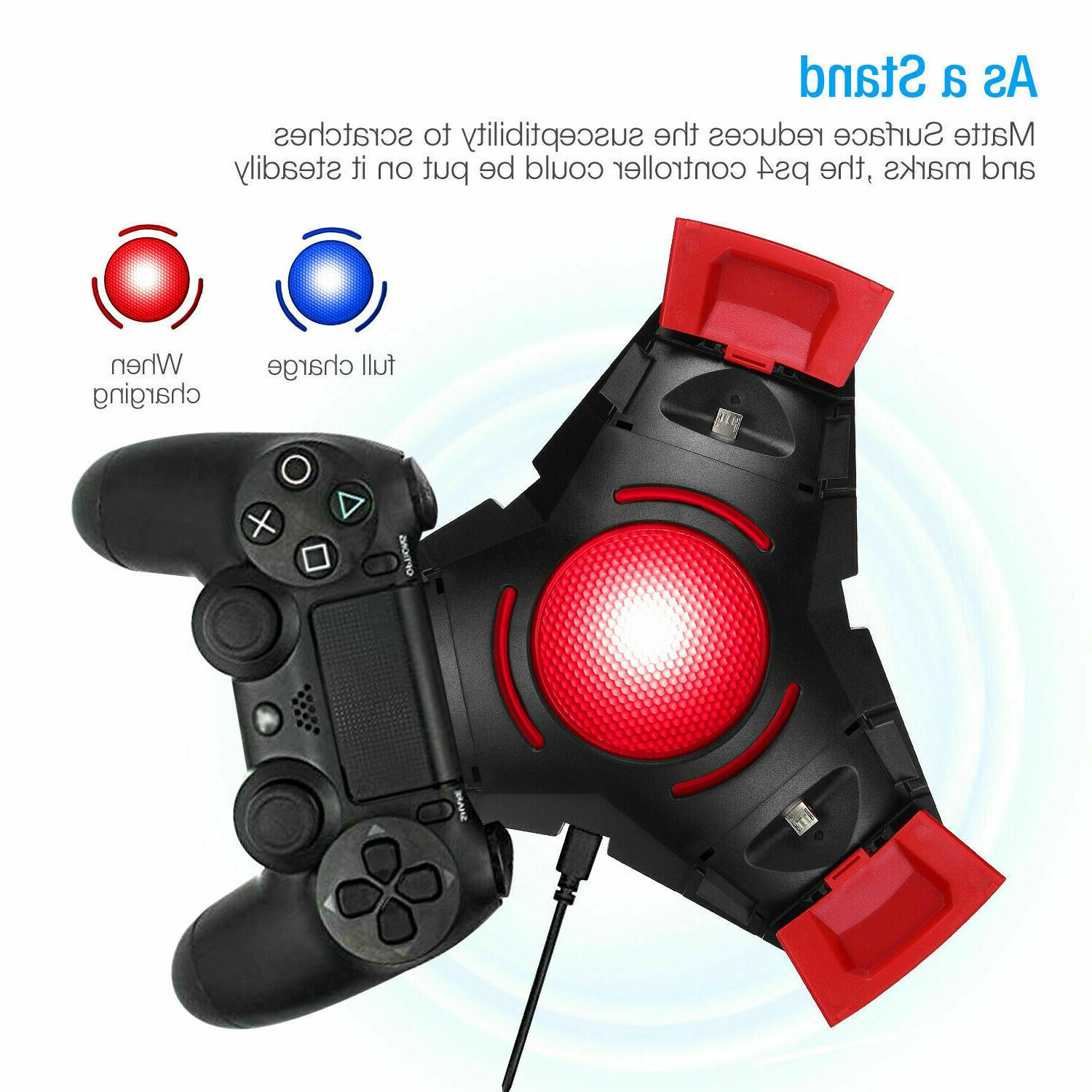 For PS4 Controller Dual Charger Dock Charging Stand