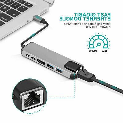 USB C Adapter Dock HDMI PD Lan