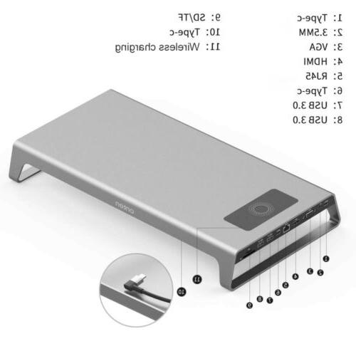 Silver Type-C to HDMI Station Hub for ChromeBook Pixel AC2111