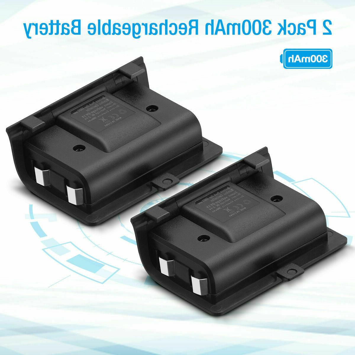 For Dual Charging Dock Charger Rechargeable Battery