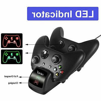 For Xbox One Controller Charging Station+ 2x Battery