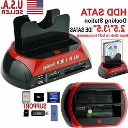 NEW HDD Docking Station SATA IDE Dual USB 2.0 Clone Hard Dri