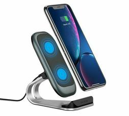 Phone Charging Dock Station Holder Qi Wireless 10W For iPhon