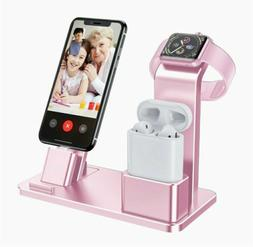 Pink Charging Stand for Apple Watch Charger Stand Aluminum D