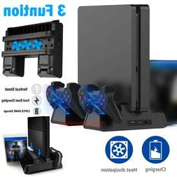 For PS4 Pro / Slim Vertical Stand + Cooling Fan Controller C