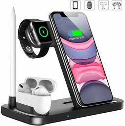4in1 Fast Charger Qi Wireless Charging Station for Apple Wat