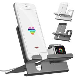T026 2 in1 Charging Dock Station Holder Stand For Apple Watc